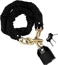 Belle Vous Veiligheidskettingslot voor Motorfietsen met Hangslot - 1,2 m Lang en 10 mm Dik - Zwaar Antidiefstalslot Met 3 ...