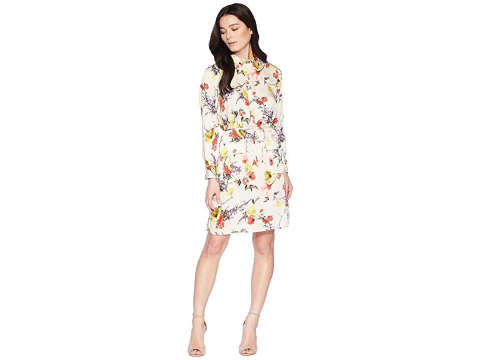LAUREN Ralph Lauren Petite Floral Twill Utility Dress (Multi) Women