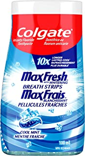 Colgate MaxFresh Liquid Gel 2-in-1 Whitening Toothpaste and Mouthwash, Cool Mint, 100 Milliliters