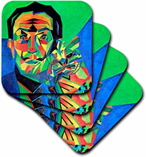 3dRose LLC Salvador Dali Abstract Ceramic Tile Coaster, Set of 4