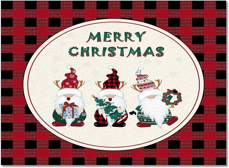 Indoor Area Rug Kitchen Bedroom specialty shop Mats Cute Max 70% OFF Christmas Floor Merry