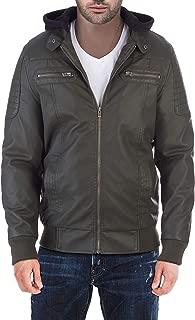 Best men's olive leather jacket Reviews