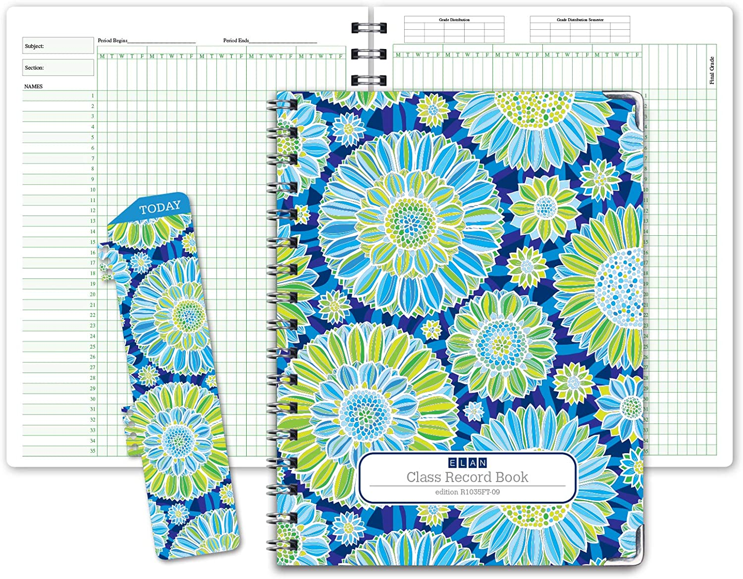 Class Record Book for 9-10 Weeks. Many popular brands Now free shipping Names. 35 Recordi Larger Grade