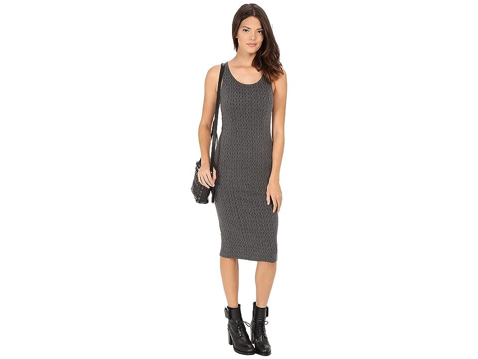 Jack by BB Dakota Castel Cable Pattern Knit Jacquard Midi Dress (Charcoal Grey) Women