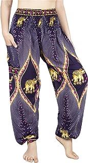 LOFBAZ Harem Pants for Women Elephant Yoga Boho Hippie Maternity PJ Clothing