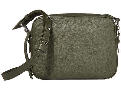 AllSaints Captain Leather SQ Crossbody (Khaki Green) Handbags