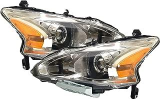 Headlight Headlamp For Nissan Altima Sedan Driver Left and Passenger Right Pair Set 2013 2014 2015