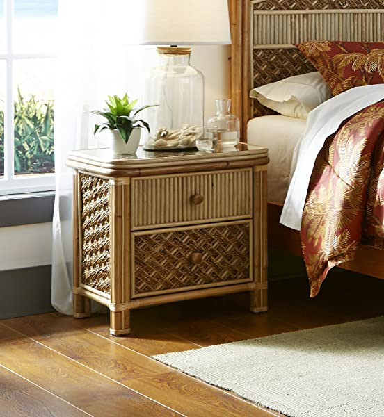 Spice Islands Mandalay 2 Drawer Nightstand Natural