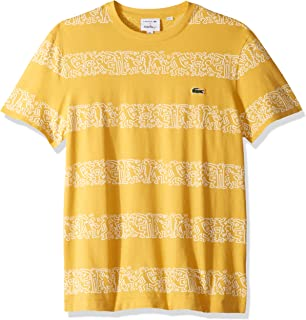 Lacoste Men's S/S Printed Stripes Jersey T-Shirt