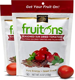 Traina Home Grown Fruitons Seasoned California Sun Dried Tomatoes and Italian Herbs - No Added Sugar, Non GMO, Gluten Free...