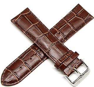 Lucien Piccard 24MM Alligator Grain Genuine Leather Watch Strap 7.5