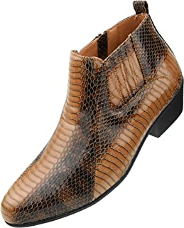 The Original Men's Exotic Demi Dress Boot in Faux Snake Print Pattern, Style Adder