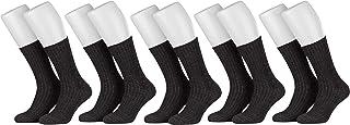 5 Pares de Calcetines Noruegos de Invierno Lana con Terry Sole sin Goma para Mujer y Hombre
