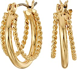 LAUREN Ralph Lauren - Perfect Pieces Twisted and Smooth Triple Hoop Earrings