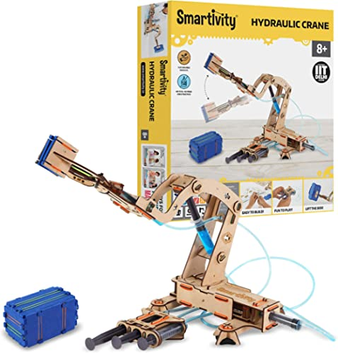 Smartivity Pump it Move it Hydraulic Crane STEM STEAM Educational DIY Building Construction Activity Toy Game Kit, Ea...