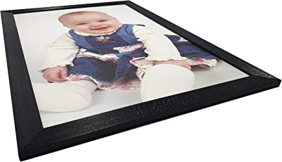 Gallery99 Grey Eyes Smiling Baby Textured Paper (Scratch/Dust) Proof Painting (19 inch x 13 inch)