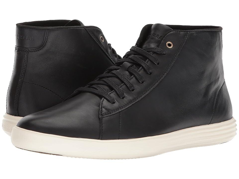 Cole Haan Grand Crosscourt High Top (Black Leather) Men