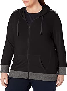 JUST MY SIZE Women`s Plus Size Active French Terry Full-Zip Hoodie
