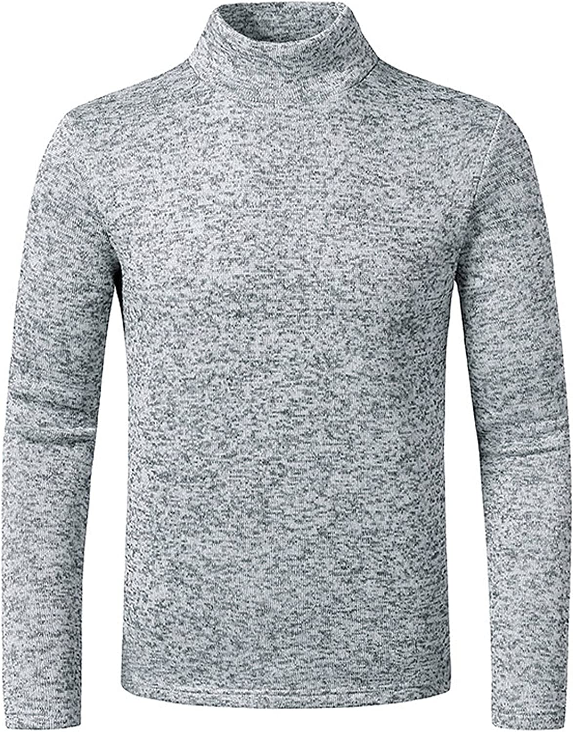 Men's Casual Slim Fit Basic Tops Knitted Thermal Turtleneck Pullover Sweaters Cotton Turtleneck Base Layer Shirt