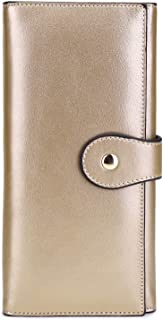 Wallet for Women, Leather Long Wallet RFID Tri-fold Card Holder Ladies Clutch