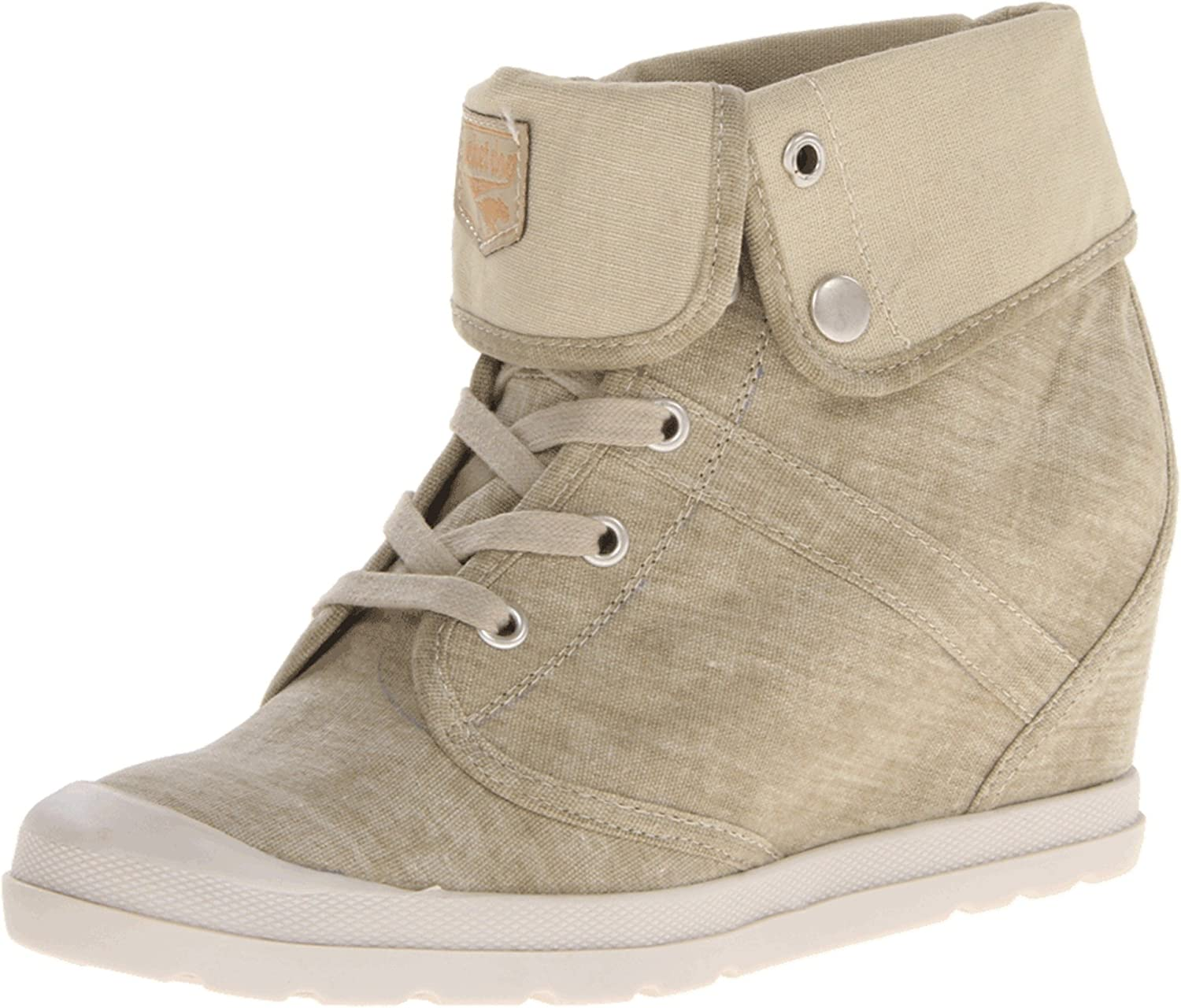 Rocket Dog Women's Frenzy whitehed Canvas High Top Sneaker