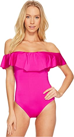 Studio Solid Off the Shoulder Bandeau One-Piece