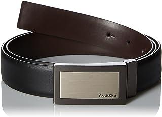 Calvin Klein Men's Plaque Buckle 32mm Reversible Belt