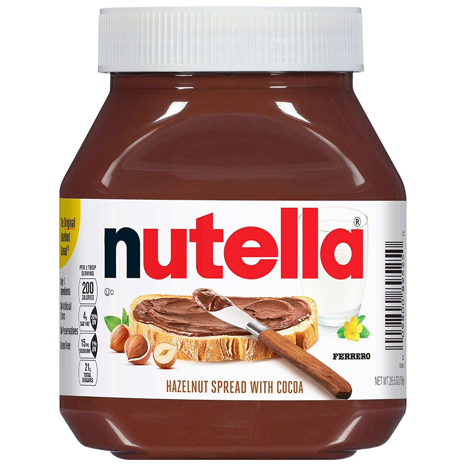 Nutella Chocolate Hazelnut Spread, Perfect Topping for Pancakes, 26.5 Oz (Pack of 1)