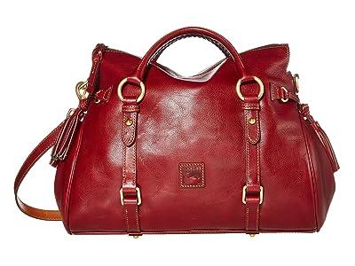 Dooney & Bourke Florentine Vacchetta Satchel (Bordeaux/Self Trim) Satchel Handbags
