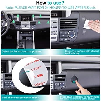 Car Grips Mount for Phone Stand - FITFORT 2019 Upgraded Silicone Phone Holder for Soket User with 3M Sticky Adhesive...