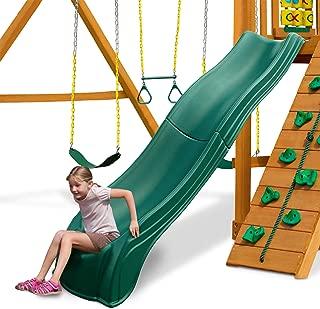 Swing-N-Slide WS 5033 Olympus Wave Slide Plastic Slide for 5' Decks, Green