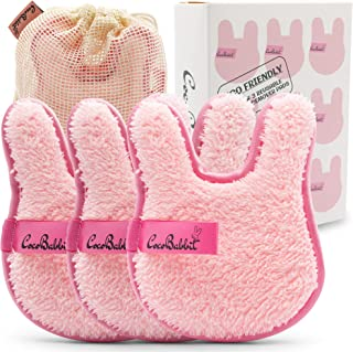 Sponsored Ad - Cute Bunny Rabbit shaped Reusable Makeup Remover Pads For Face & Eyes - Just Use Water- Washable - Microfib...