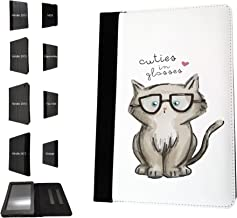 '1692 – Gatitos en Glasses Kitten and Cats dibujos animados tipo Nerds Diseño Amazon Kindle Paper White 6 2014/2016 Fashion Trend TPU piel cartera funda Flip cover Book Wallet Stand Soporte Case