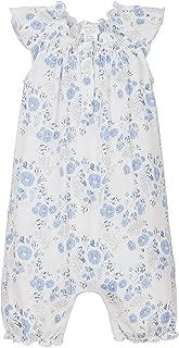 Girls Clothes Pima Cotton Angel Sleeve One-Piece Shortie Sunsuit Bubble Baby Romper