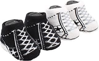 Converse One Star Infant Booties Socks-2 Pack
