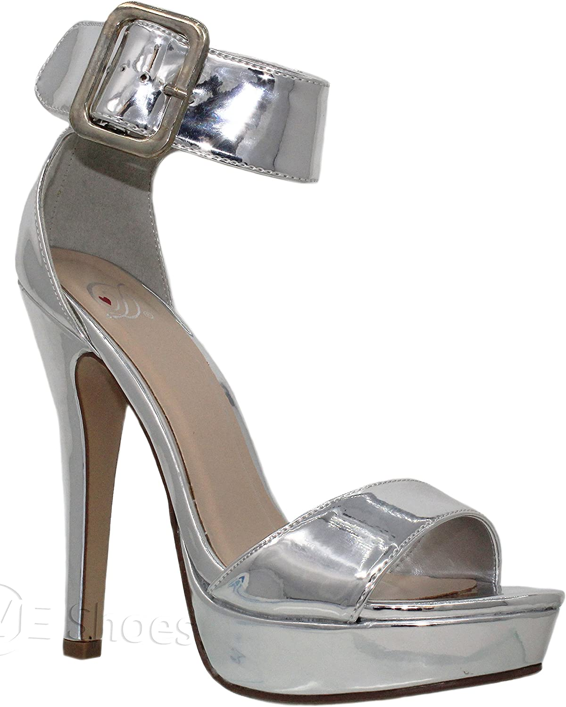 MVE shoes Women's Cutout Back Zipper Stiletto Gladiator Sandals