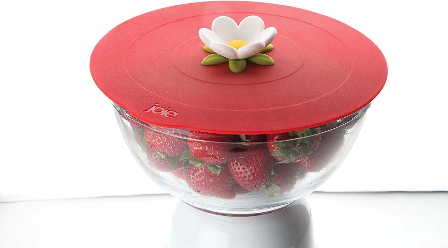 MSC International Joie Large Size Bloom Reusable Silicone Lid And Suction Cooking Food Storage Cover Flower 11 5 Inches