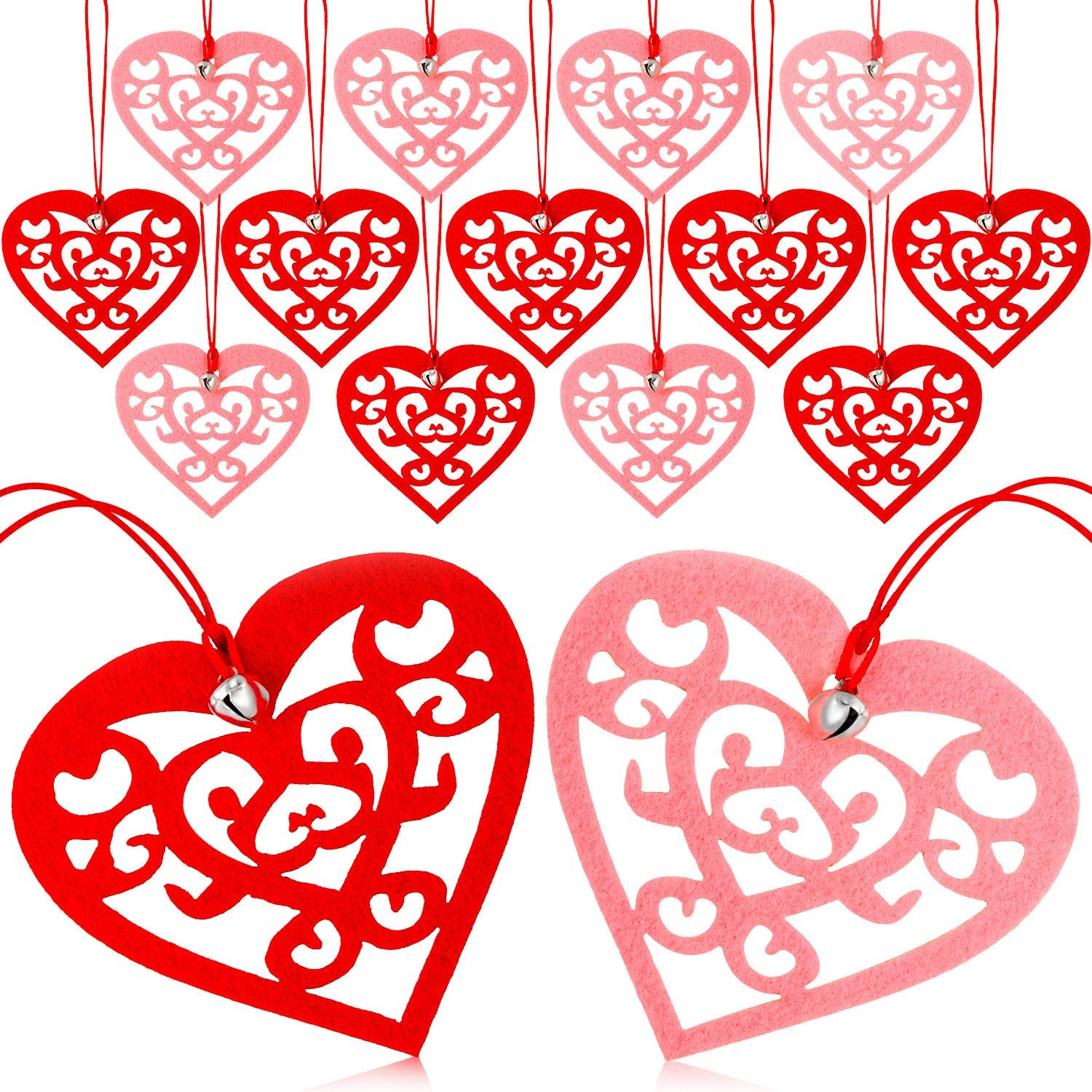 Bargain sale 40 Pieces Valentine's Day Felt Los Angeles Mall Sha Heart Ornaments Hanging