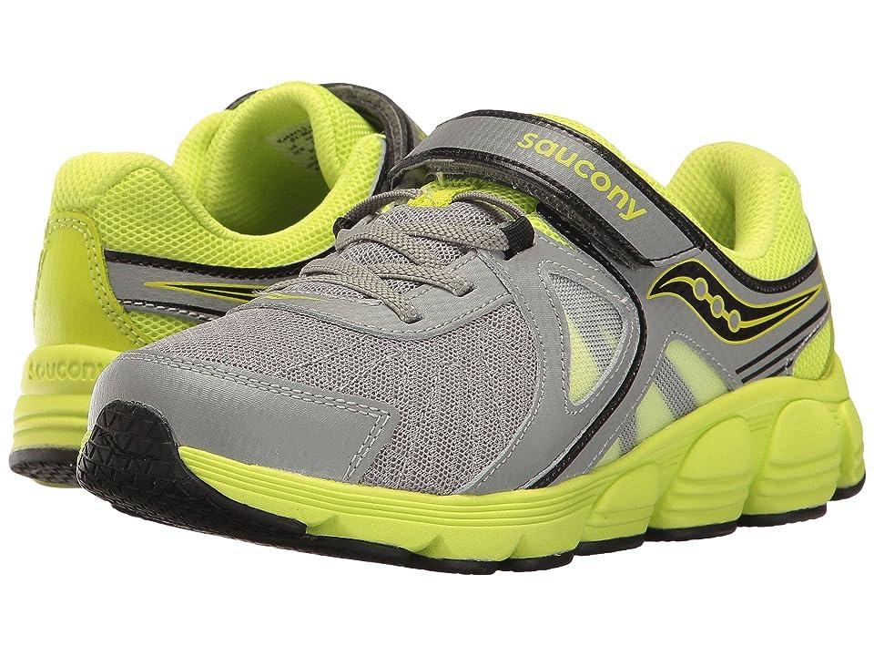 Saucony Kids Kotaro 3 A/C (Little Kid) (Grey/Lime) Boys Shoes