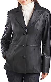 f18ab911ba7b BGSD Women s Crystal Lambskin Leather Blazer (Regular Plus ...