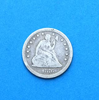 1876 CC United States Seated Liberty Quarter Dollar Coin Very Good Details