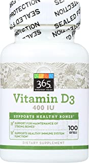 365 Everyday Value, Vitamin D3 400 IU, 100 ct