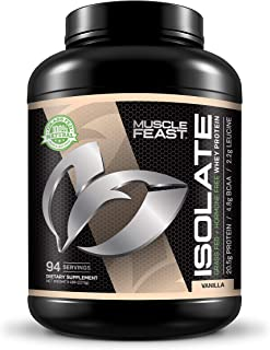 Grass Fed Whey Protein Isolate by Muscle Feast | All Natural and Hormone Free (5lb, Vanilla)