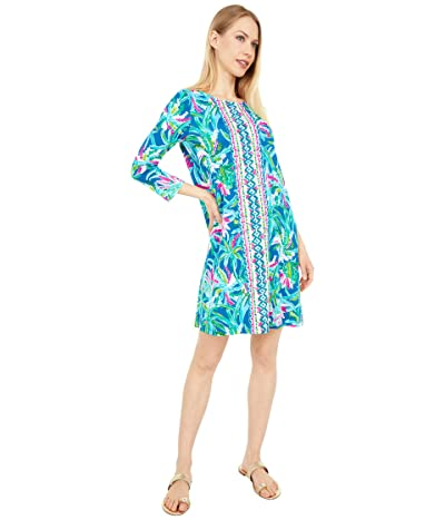 Lilly Pulitzer Ophelia Dress (Macaw Blue Sweet Escape Engineered Dress) Women