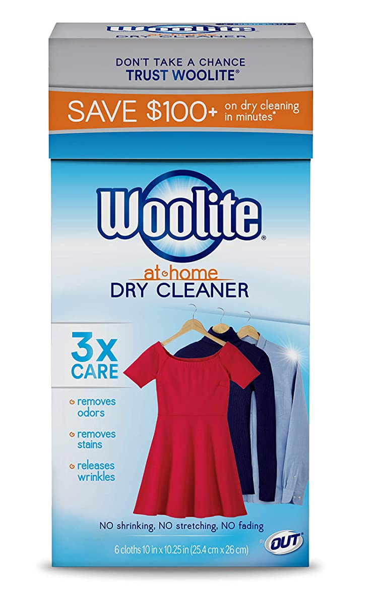 反射捧げる別々に(24 Cloths, Fresh Scent) - Woolite At Home Dry Cleaner, Fresh Scent, 4 Pack, 24 Cloths