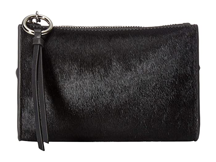 Rebecca Minkoff 25 mm Exotic Belt Bag (Black/Nickel) Women