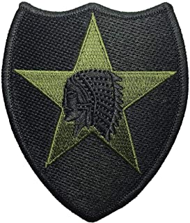OTA Patch 2nd Infantry Division Indian Chief Star US.Army Jacket Vest Shirt HAT Blanket Backpack T-Shirt Patch Embroidered Appliques Symbol Native Badge Cloth Sign
