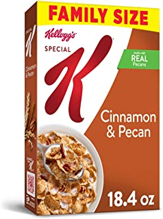 Kellogg's Special K, Breakfast Cereal, Cinnamon and Pecan, Value Size, 18.4oz Box