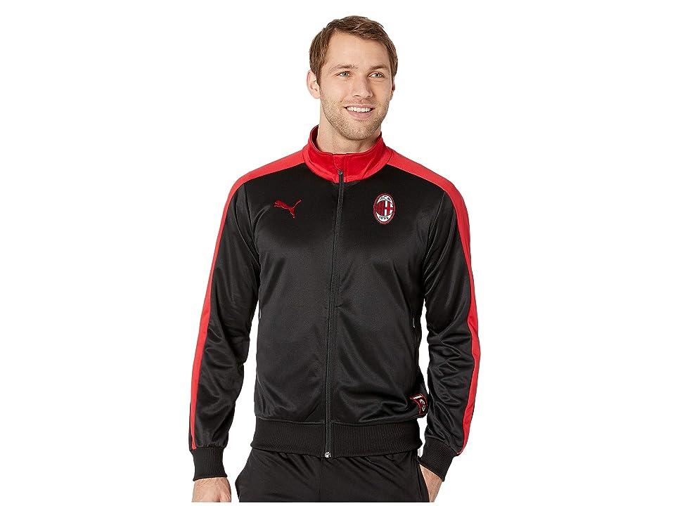 PUMA AC Milan T7 Track Jacket (PUMA Black/Tango Red) Men