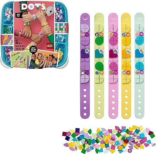LEGO Dots 41913 La Méga-Boîte de Bracelets, Activité Manuelle et Loisirs Créatifs, Kit Bricolage Enfant et Breloque S...
